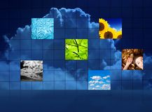Abstract weather puzzle Stock Images