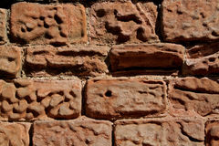 Abstract of weathered sandstone wall Royalty Free Stock Photography