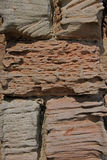 Abstract of weathered sandstone wall Stock Photos