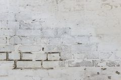 Abstract weathered texture stained old stucco light gray and aged paint white brick wall background in rural room, grungy rusty bl. Ocks of stonework technology Stock Image
