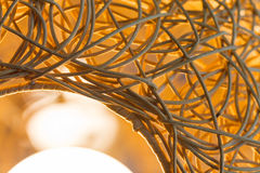 Abstract weave lamp texture Royalty Free Stock Photography