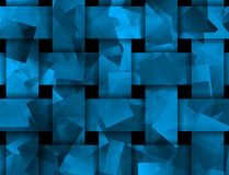 Abstract weaved texture in blue Royalty Free Stock Photo
