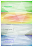Abstract web banner background. Abstract web banner background in different color. Vector design Royalty Free Stock Photo