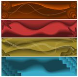 Abstract web banners. Set of four abstract colorful web banners Royalty Free Stock Images