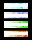 Abstract Web Banners. Set of four abstract web banners Royalty Free Stock Photos