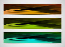 Abstract  web banners. Abstract colorful  web banners with triangles and shadows Royalty Free Stock Photos