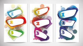 Abstract Web Banners with numbers. Stock Photos