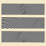 Abstract web banners with optical illusion  for your www design. Royalty Free Stock Image