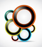 Abstract web bubbles. Abstract colorful website bubbles background vector illustration