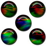 Abstract Web Button Set Stock Image