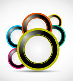 Abstract web circle background Royalty Free Stock Photo