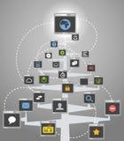 Abstract web community tree Royalty Free Stock Image