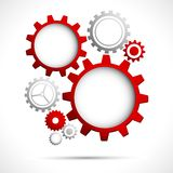 Abstract Web design. Illustration of abstract web design with copy space in cog wheel Stock Photos