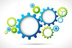 Abstract Web design. Illustration of abstract web design with copy space in cog wheel Royalty Free Stock Photo