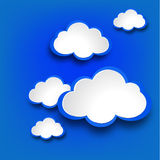Abstract web design background with clouds. Royalty Free Stock Images