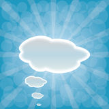 Abstract web design background with clouds with su Stock Photos