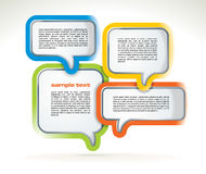 Abstract web design bubbles vector illustration
