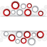 Abstract web design with copy space in cog wheel Stock Photos