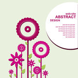 Abstract web design with flowers Stock Images