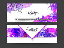 Abstract web header or banner set. Royalty Free Stock Images