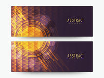 Abstract web header or banner set. Creative stylish Abstract website header or banner set for your business vector illustration
