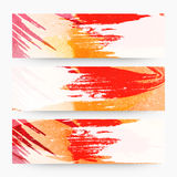 Abstract web header or banner set. Royalty Free Stock Photos