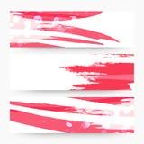 Abstract web header or banner set. Royalty Free Stock Photos
