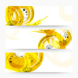 Abstract web header or banner set. Stock Images