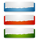 Abstract web headers design. Vector banners Stock Photography
