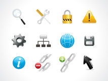 Abstract web icon set Stock Photography