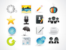 Abstract web icon set. Vector illustration Stock Photos