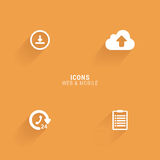Abstract web icons. On an orange background Stock Photography