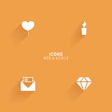 Abstract web icons. On an orange background Royalty Free Stock Photos