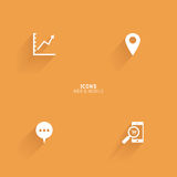 Abstract web icons. On an orange background Royalty Free Stock Images