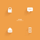 Abstract web icons. On an orange background Stock Images