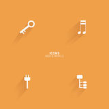 Abstract web icons. On an orange background Royalty Free Stock Photography