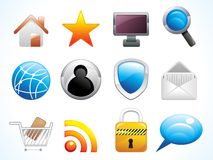 Abstract web icons set Royalty Free Stock Photo