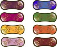 Abstract web menu. Web menu buttons on a abstract theme Stock Photos