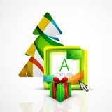 Abstract web message box with Christmas decoration Stock Photo