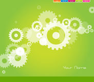 Abstract web page on green background. vector illustration