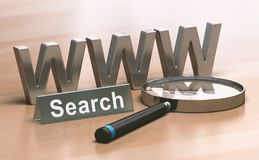 Abstract Web Search Concept Stock Photo