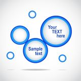 Abstract web site blue design,  template Stock Images