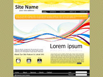 Abstract web site template Royalty Free Stock Photography