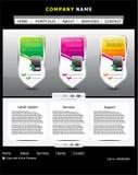 Abstract web template design Stock Photos