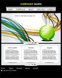 Abstract web template with globe Stock Photo