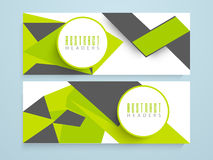 Abstract website banner or header set. Royalty Free Stock Photo