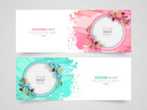 Abstract website header or banner set. Royalty Free Stock Image