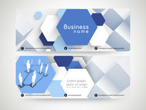 Abstract website header or banner set for business. Royalty Free Stock Photography
