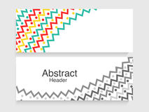 Abstract website header or banner set. Colorful creative abstract design decorated website header or banner set Stock Images