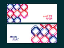 Abstract website header or banner set. Colorful creative Abstract website header or banner set for your company stock illustration